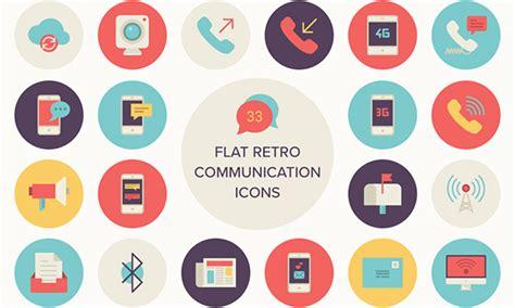 Kitchen Design Tool Free freebie flat retro communications icon set 33 icons
