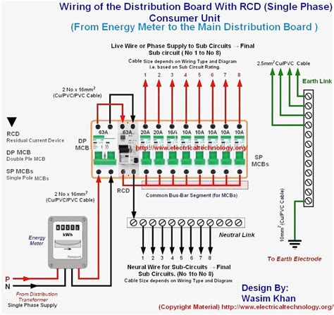 rcd circuit breaker wiring diagram circuit and