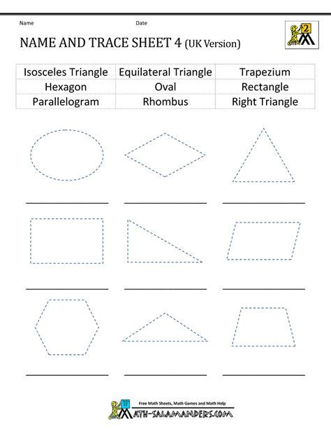 worksheets on shapes for grade 2 2d shapes worksheets 2nd grade