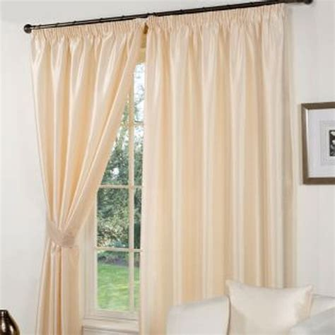 faux silk cream curtains faux silk curtains 46 x 54 cream buy online at qd stores
