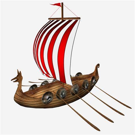 cartoon boat 3d model cartoon viking ship 3d model turbosquid 1263649