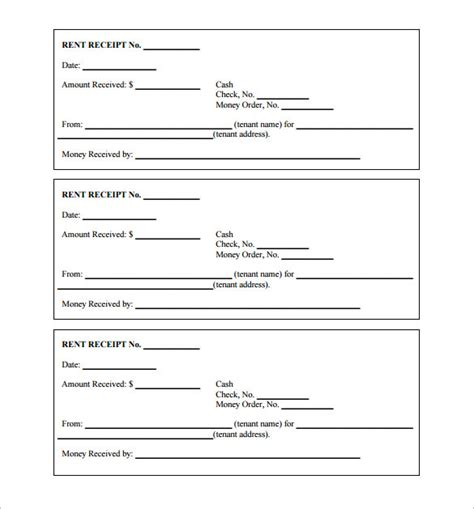 printable blank receipt templates receipt template 122 free printable word excel ai