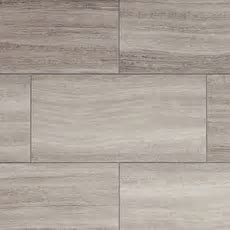 NuCore Gray Tile Plank with Cork Back   6.5mm   100376904