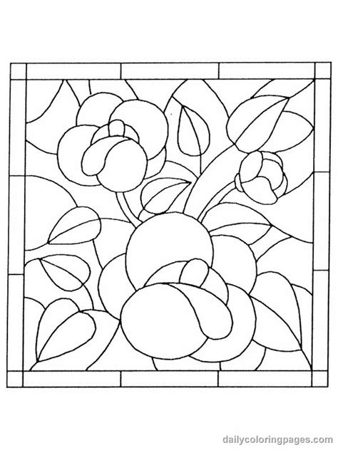 Free Stained Glass Flower Pattern Vitray Stained Glass Free Printable Stained Glass Coloring Pages
