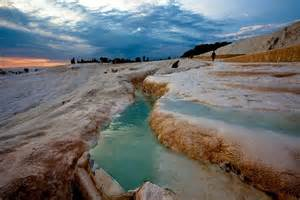 terraces and pools of pamukkale turkey