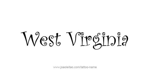 west virginia tattoos designs west virginia usa state name designs tattoos with