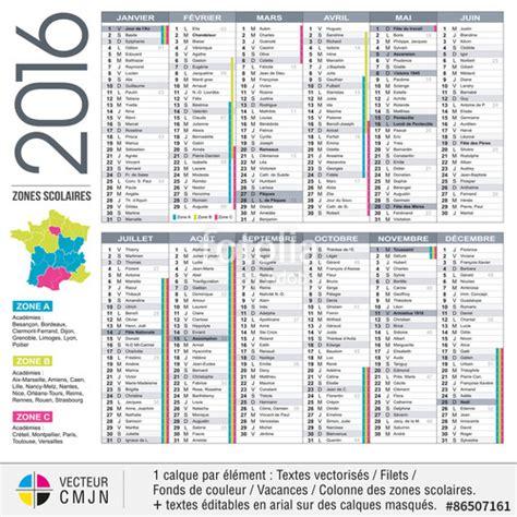 Calendrier 2016 Francais Quot Calendrier Fran 231 Ais 2016 Avec Vacances Scolaires Et Zones