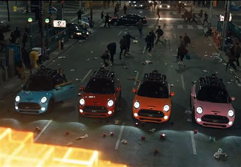 film ghost car mini cooper s makes the pac man ghost in the upcoming