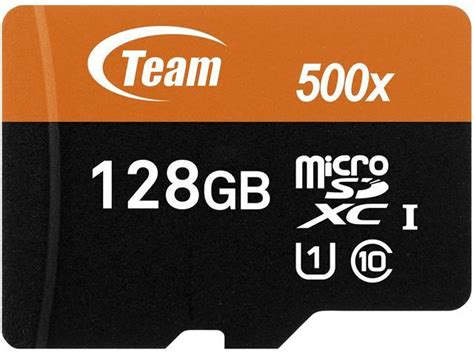 Memory Team team 128gb microsdxc uhs i u1 class 10 memory card with adapter speed up to 80mb s