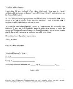 Employment Verification Letter Notarized Image Gallery Self Employment Letter