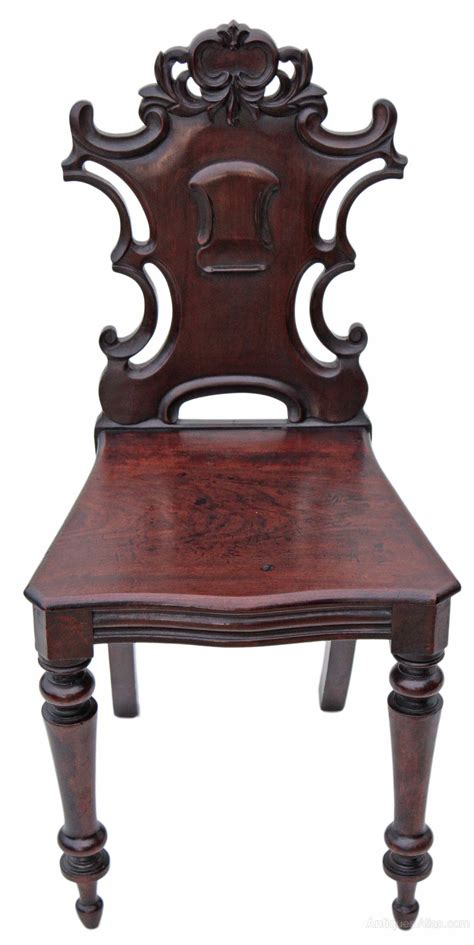 antique bedroom chair victorian carved mahogany hall side bedroom chair