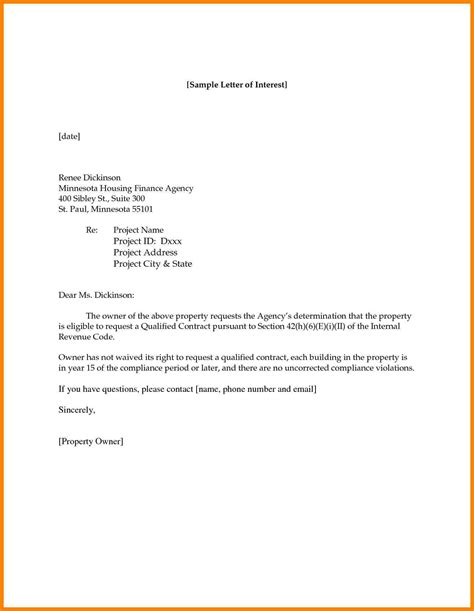Cover Letter Interest by 6 Interest Letter Write Memorandum