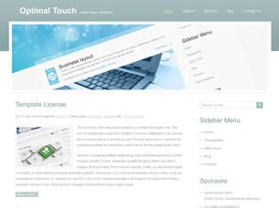 layout css touch optimal touch free website template free css templates