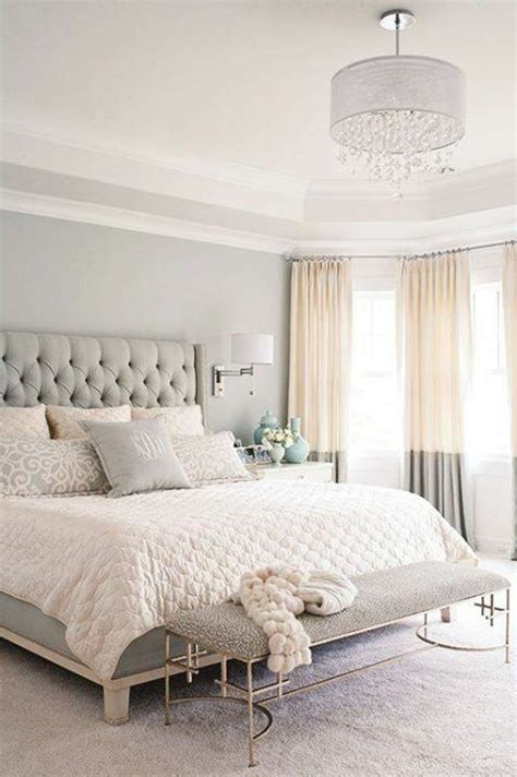 Neutral Bedroom Curtains Chic Bedroom Of Neutrals Two Tone Curtains Interiors Bedroom Neutral