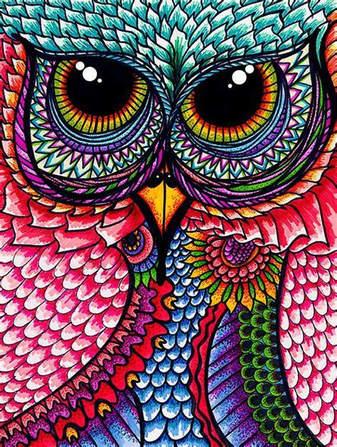 imagenes de mandalas coloridas 61 mandalas y zentangles con buhos y lechuzas dise 241 os y