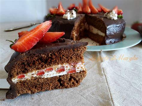 torta al cioccolato con panna da cucina torta fragole cioccolato e panna le torte di marghe
