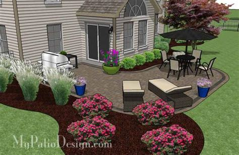 L Shaped Patio by L Shaped Patio Design Patio Layout And Material List Mypatiodesign