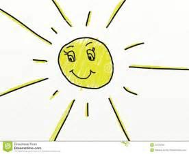 l enfant aiment le dessin d un soleil illustration stock