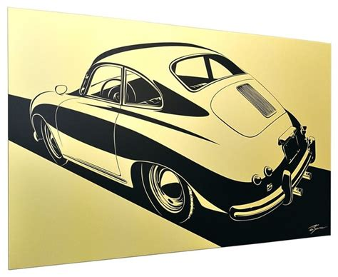 Rustic Garden Art - collect car artwork porsche 356 stylization contemporary prints and posters los angeles