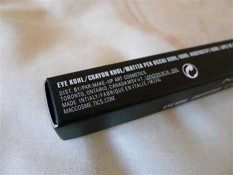 Mac Eye Kohl Eyeliner Review by Perfumes Makeup Mac Kohl