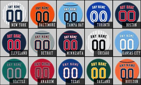 personalized jersey fridge magnets mlb team colors set