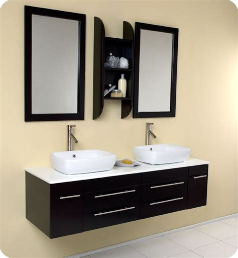 double sinks bathroom convenience boutique fresca bellezza espresso modern