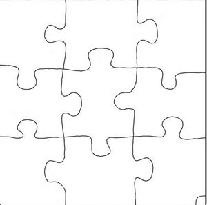 large jigsaw puzzle template 2 piece puzzle template