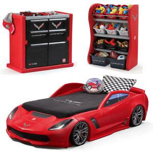 corvette car toy bed frame twin size  organizer dresser
