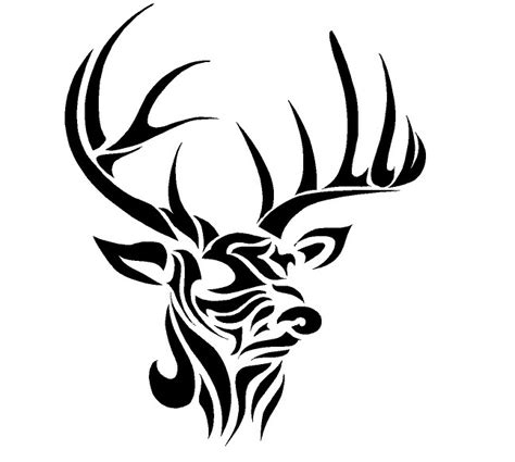 tribal hunting tattoos deer tribal decal search stencils