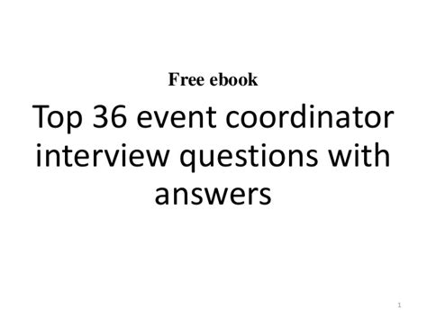 top 10 event coordinator questions and answers