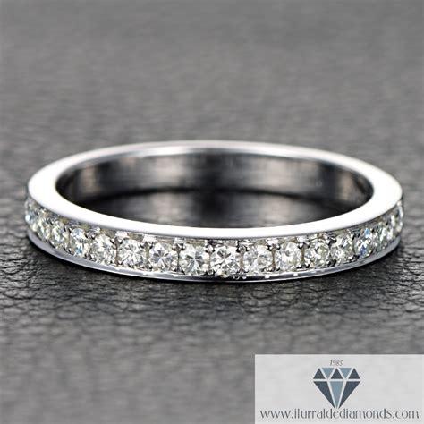 half eternity moissanite wedding band iturraldediamonds