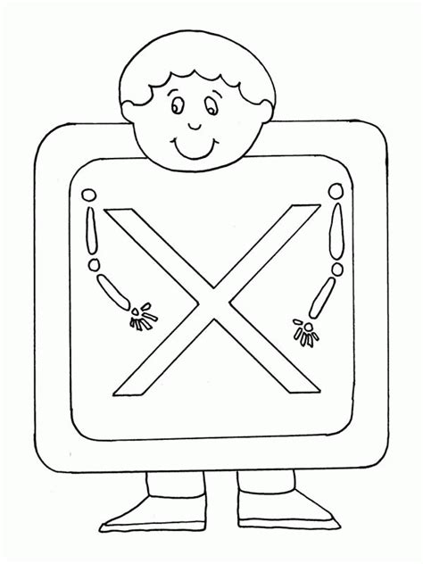 Letter X Coloring Pages Preschool by Letter X Coloring Pages Coloring Home