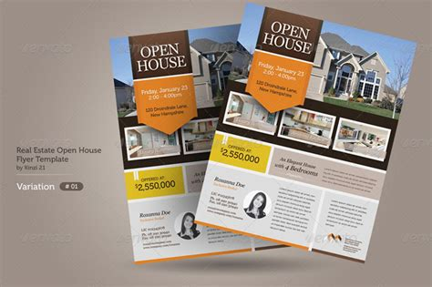 real estate open house flyers 20 real estate brochure and flyer templates
