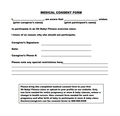 Parental Consent Letter For Doctor Sle Consent Form 11 Free Documents