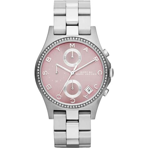 ladies henry silver tone pink dial  watches