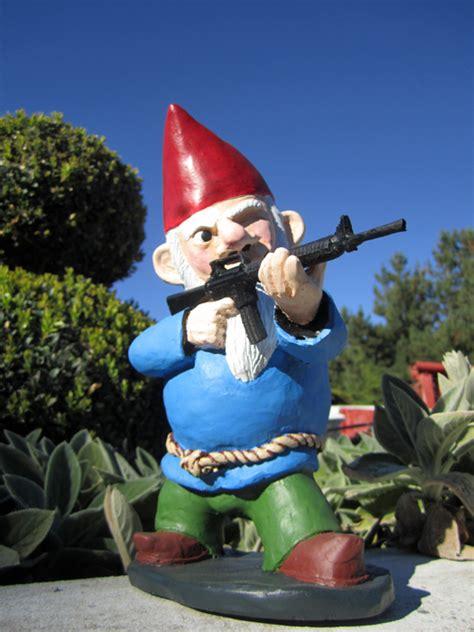 Garden Gnomes With Guns | combat garden gnomes