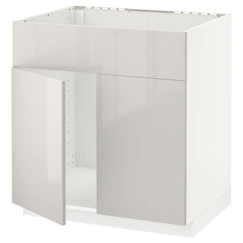 metod base cabinet f sink w 2 doors front black kallarp light green 80x60 cm ikea metod base cabinet f sink w 2 doors front white ringhult