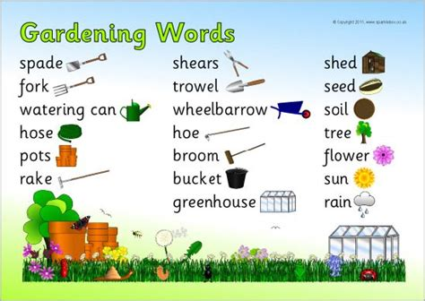 theme garden list 17 best images about plants free teaching resources on