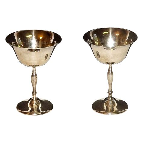 wine goblets silver plated wine chagne glasses goblets by leonard