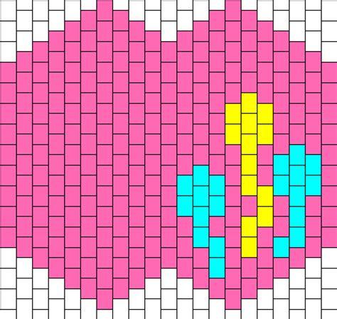 kandi mask pattern with numbers pinkie pie kandi mask bead pattern peyote bead patterns