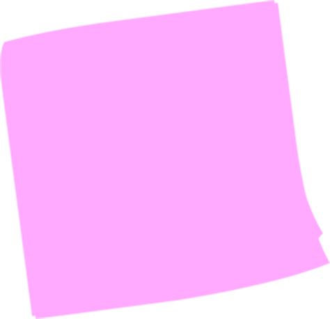 pink post it clip at clker vector clip royalty free domain