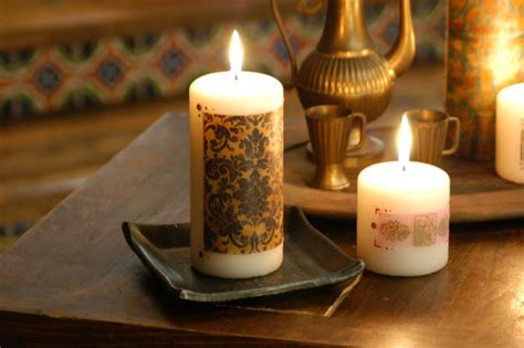 how to decorate candles at home craftionary