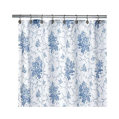 laura ashley shower curtain laura ashley sophia blue 72 inch x 72 inch fabric shower