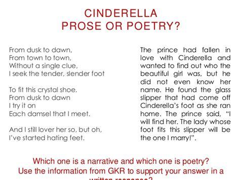 exle of prose 1 prose vs poetry