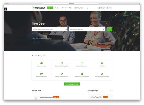 free templates for job website 20 best job board themes and plugins for wordpress 2018