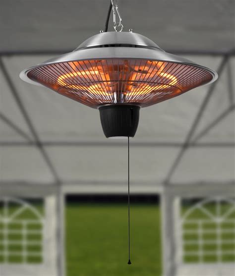Patio Ceiling Heaters Firefly 1 5kw Ceiling Mounted Halogen Bulb Electric Infrared Patio Heater 163 79 99