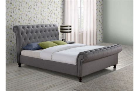 grey fabric bed frame birlea castello 6ft super kingsize grey fabric bed frame