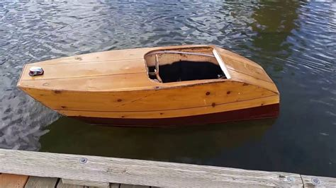 wooden boat plans inboard plywood boat small electric inboard youtube