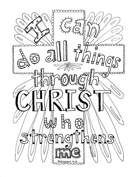 christian coloring pages for 2 year olds philippians 4 13 scripture coloring page coloring book