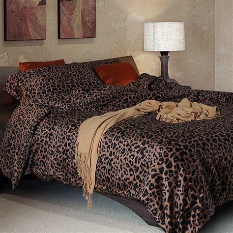 Leopard Print Duvet Set King Size 100 sateen cotton bedding set leopard print duvet cover
